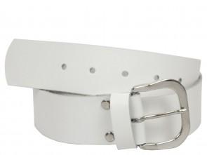 Echt Ledergürtel in Trendigen Weiß - 4cm Breite