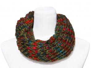 Loop Schal in Trendigen Farben und Design-Grün