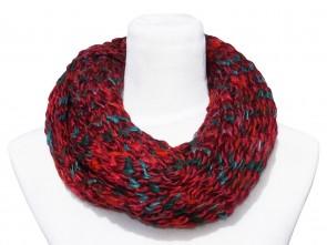 Loop Schal in Trendigen Farben und Design-Rot