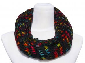 Loop Schal in Trendigen Farben und Design-Schwarz
