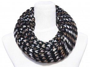 Loop Schal in Trendigen Farben und Design-Schwarz / Weiß