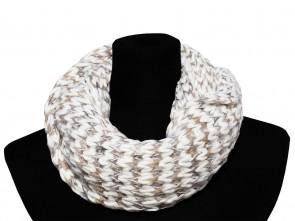 Loop Schal in Trendigen Farben und Design-Weiß