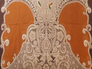 Loop Schal mit Braunen Blumen / Paisley Motiv - Braun