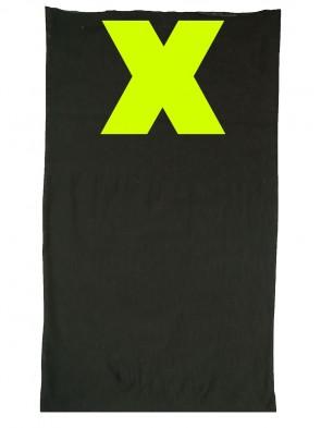 Multifunktionstuch in trendigen X Design - Schwarz / Neon Gelb