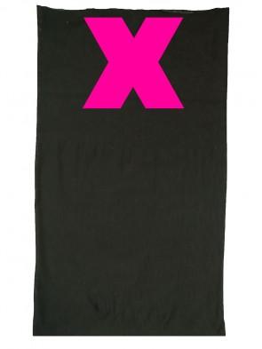 Multifunktionstuch in trendigen X Design - Schwarz / Neon Pink