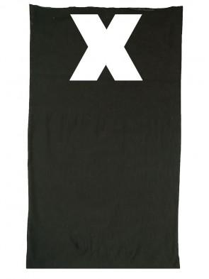Multifunktionstuch in trendigen X Design - Schwarz / Weiß