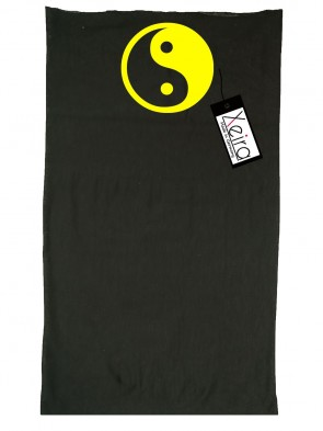 Multifunktionstuch In Yin Yang Design - Schwarz / Gelb