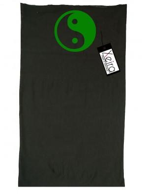 Multifunktionstuch In Yin Yang Design -Schwarz / Grün