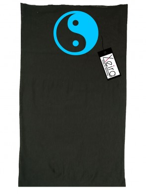 Multifunktionstuch In Yin Yang Design - Schwarz / Teal
