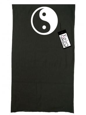 Multifunktionstuch In Yin Yang Design - Schwarz-Schwarz / Weiß