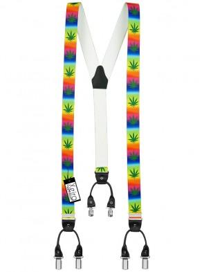 Cannabis Hosenträger Multicolour 6 Clips