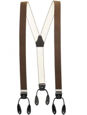 Hochwertige Hosenträger von Xeira® in Vintage UNI Design mit Lederriemen