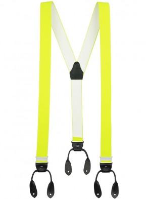 Hochwertige Hosenträger von Xeira® in Vintage NEON Design mit Lederriemen