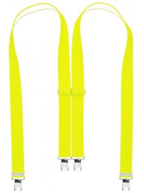 Hosenträger in Uni & Neon Farben mit 4 Extra Starken XL Clips