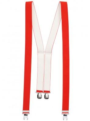 Hochwertige Hosenträger in Trendigen Uni & Neon Farben mit 4 Clips