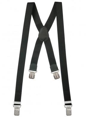 Hosenträger X-Design in Uni Farben mit 4 XL Alder Clips
