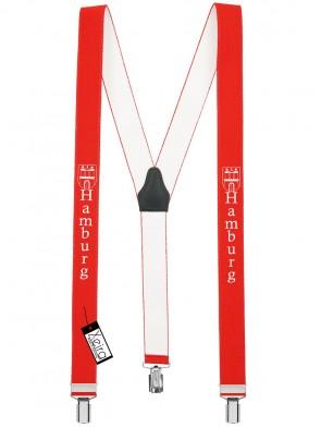 Hosenträger Hamburg Design mit 3 Clips von Xeira®-